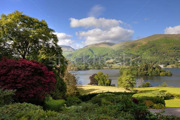 Lake district jardin pluie été montagnes marche Photo stock © andrewroland