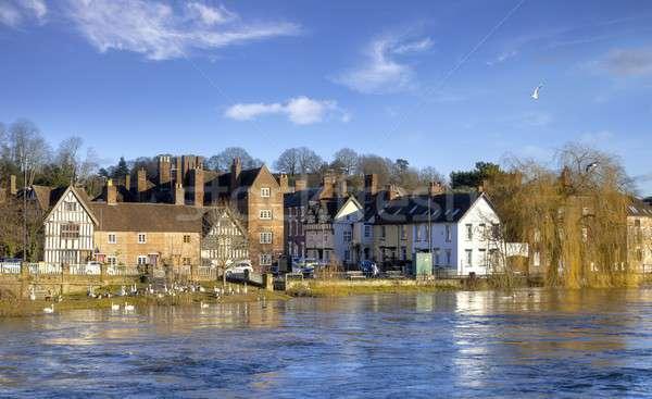 Англии высокий воды реке архитектура Европа Сток-фото © andrewroland