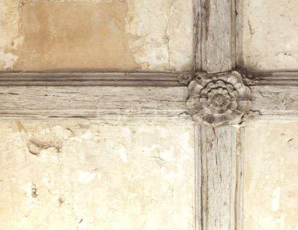 Tudor rose ceiling Stock photo © andrewroland