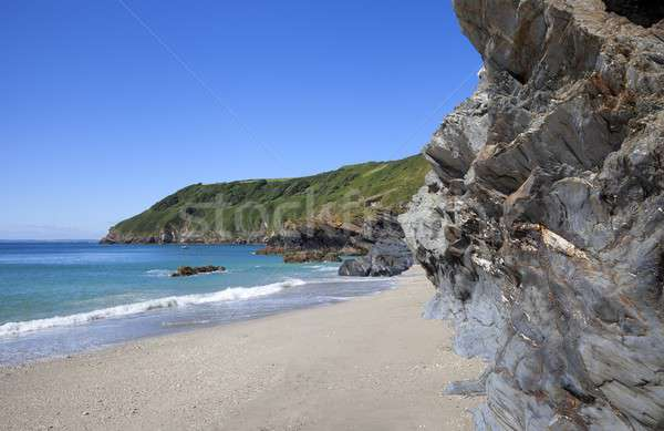 Cornwall Inghilterra ora legale sole panorama cielo blu Foto d'archivio © andrewroland