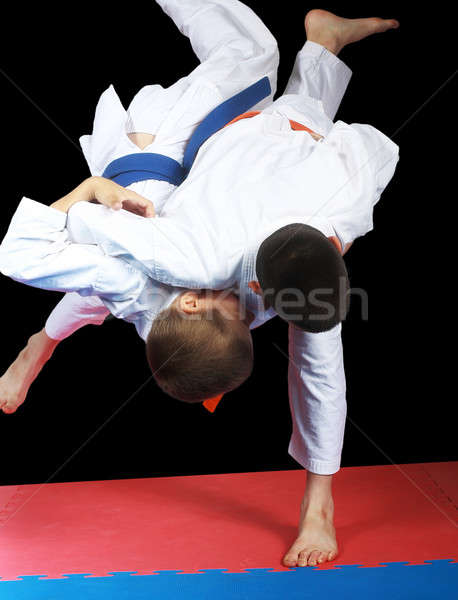 高い スポーツマン オレンジ ベルト 子供 ストックフォト © Andreyfire