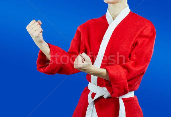 Sportoló mikulás áll fogas karate gyermek Stock fotó © Andreyfire