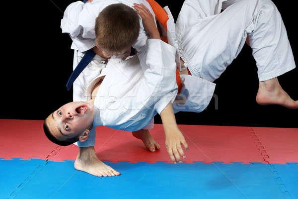 Sterke gezondheid succes veiligheid stijl jongens Stockfoto © Andreyfire