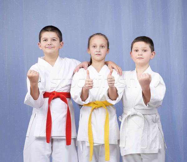 Erkek kız ayakta raf karate Stok fotoğraf © Andreyfire