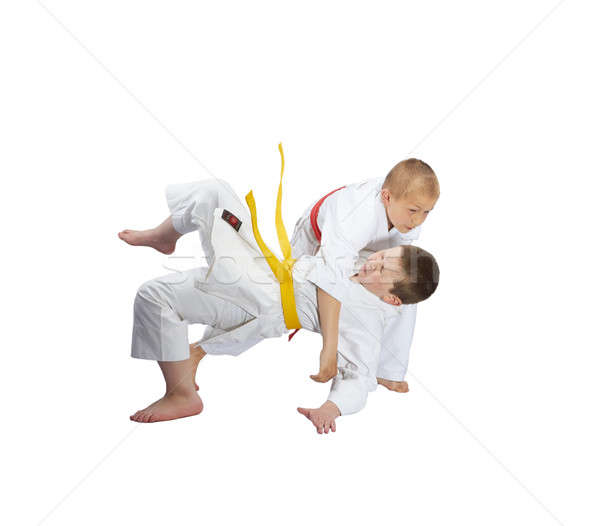 Ninos judo blanco deporte seguridad éxito Foto stock © Andreyfire