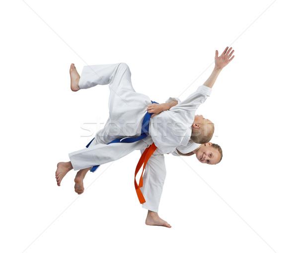 Tren judo çocuklar güvenlik erkek başarı Stok fotoğraf © Andreyfire