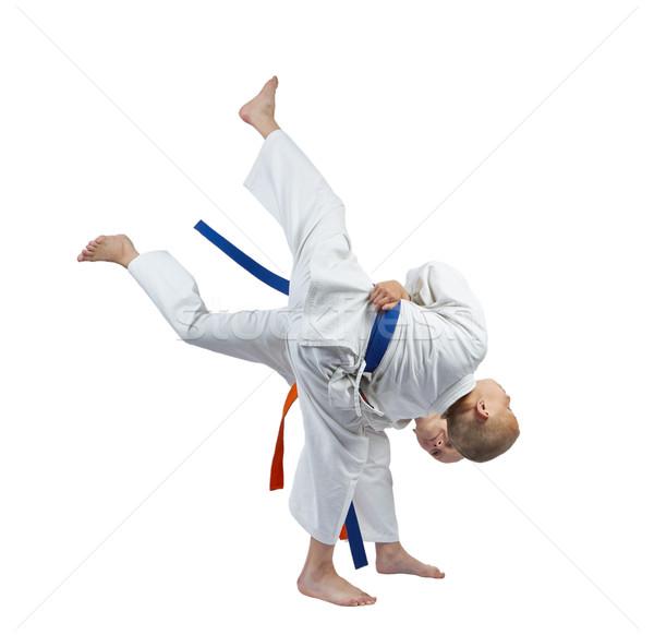 Kız erkek judo çocuklar güvenlik Stok fotoğraf © Andreyfire