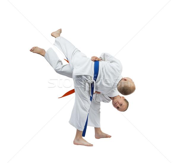 Genç çocuklar judo spor güvenlik başarı Stok fotoğraf © Andreyfire
