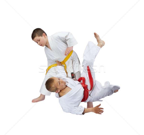 çocuklar eğitim judo beyaz çocuklar spor Stok fotoğraf © Andreyfire