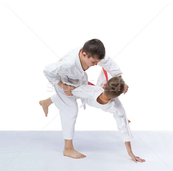 Judo erkek çocuklar spor sağlık sevinç Stok fotoğraf © Andreyfire