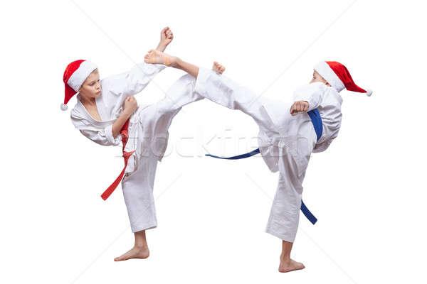 ストックフォト: 高い · 脚 · 訓練 · アスリート · サンタクロース · 子供