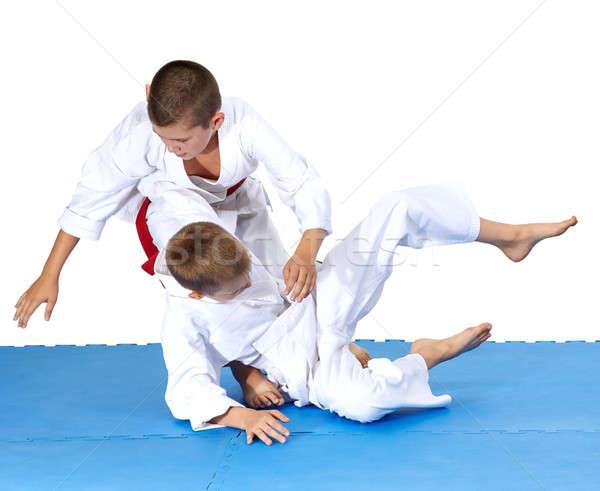 çocuklar eğitim judo güvenlik başarı stil Stok fotoğraf © Andreyfire