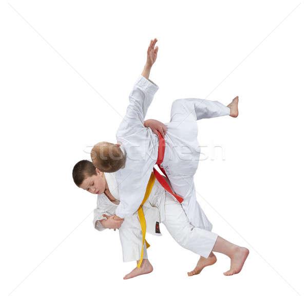 élevé athlète jaune ceinture santé succès Photo stock © Andreyfire