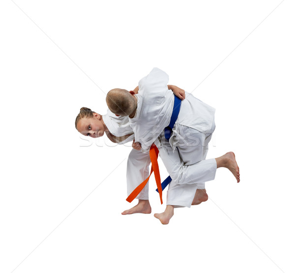 Dos atletas judo ninos deportes seguridad Foto stock © Andreyfire
