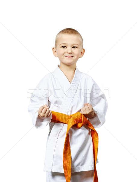 Fogas karate tartózkodás kicsi atléta egészség Stock fotó © Andreyfire