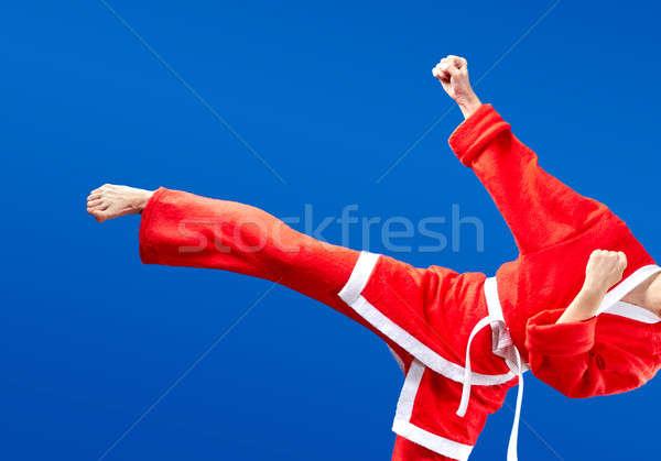 Tuch Mädchen Schlag Bein Kind Stock foto © Andreyfire
