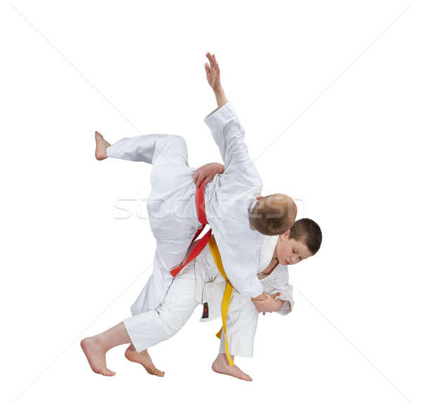 Genç eğitim judo spor başarı Stok fotoğraf © Andreyfire