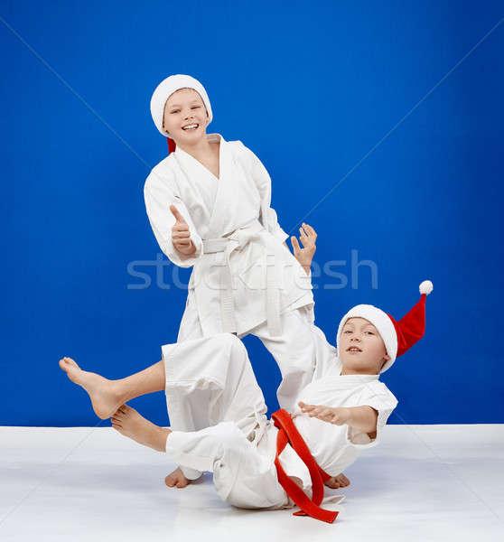 Alegre atletas trenes judo salud seguridad Foto stock © Andreyfire