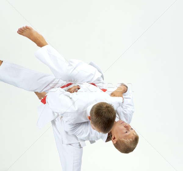 Sportolók képzés fény gyerekek sportok biztonság Stock fotó © Andreyfire