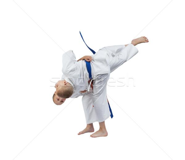 Judo atletas ninos ninas éxito estilo Foto stock © Andreyfire