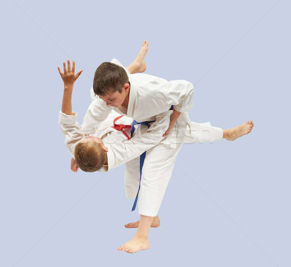 Eğitim yüksek judo çocuklar spor sağlık Stok fotoğraf © Andreyfire
