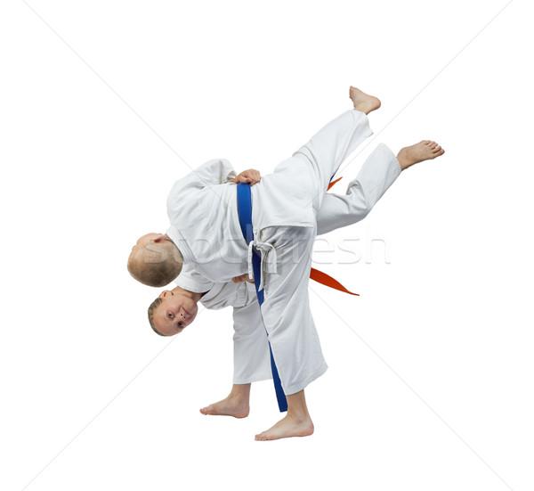 Ninos formación judo deportes seguridad nino Foto stock © Andreyfire