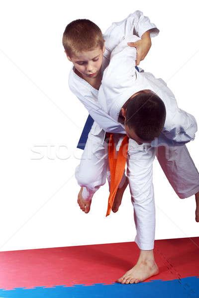 Atlet turuncu kemer judo sağlık başarı Stok fotoğraf © Andreyfire