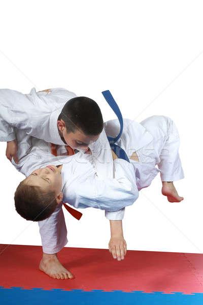 Formación judo deportes éxito seguridad estilo Foto stock © Andreyfire