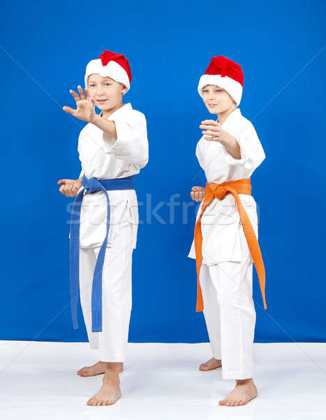 Mikulás áll fogas karate gyerekek egészség Stock fotó © Andreyfire