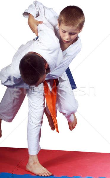 Aktív sportolók előad egészség siker biztonság Stock fotó © Andreyfire