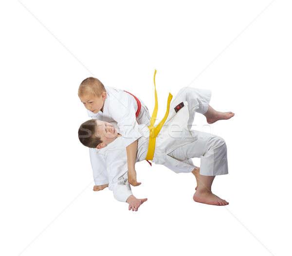 Erkek tren judo sağlık başarı Stok fotoğraf © Andreyfire