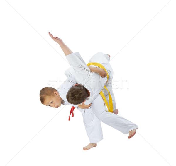Yüksek judo çocuklar sağlık güvenlik başarı Stok fotoğraf © Andreyfire