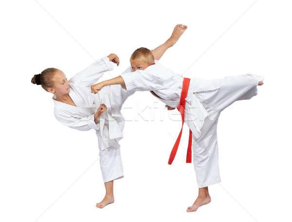 Weinig slaan meisje sport veiligheid Stockfoto © Andreyfire