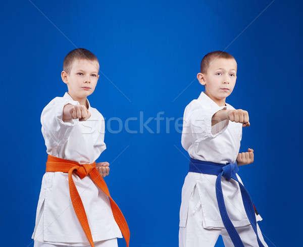 Garçons main santé sécurité succès joie Photo stock © Andreyfire