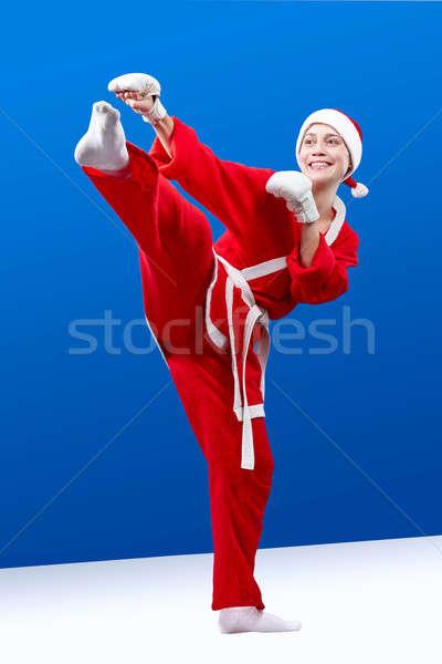 Fehér kezek atléta rúgás láb gyermek Stock fotó © Andreyfire