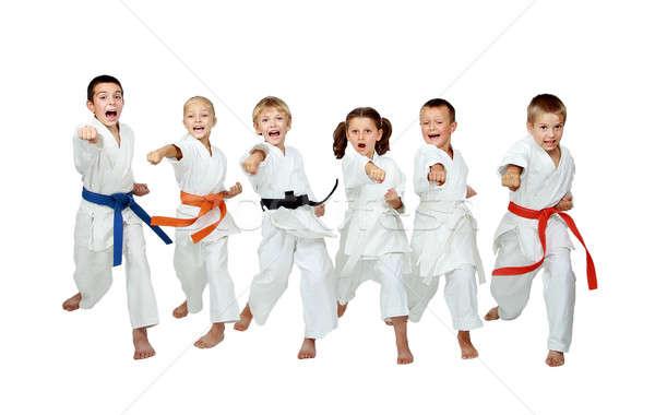 Witte zes arm kinderen gezondheid Stockfoto © Andreyfire