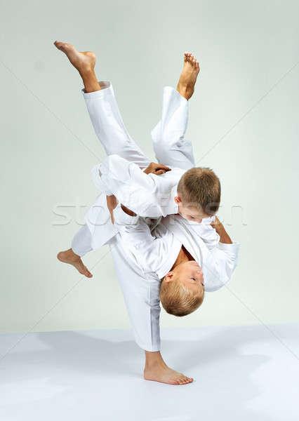 Meninos atletas crianças segurança sucesso estilo Foto stock © Andreyfire