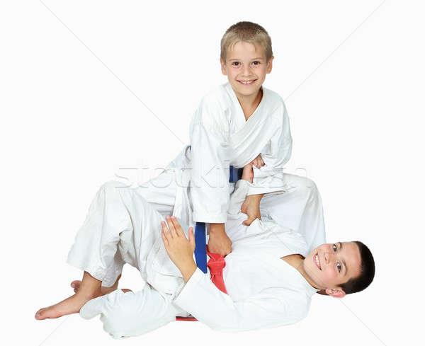 Blanche garçons isolé enfants santé sport Photo stock © Andreyfire