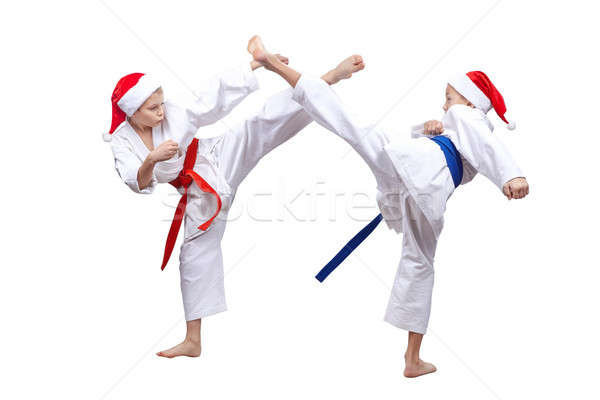 Actif athlètes cap battement enfants Photo stock © Andreyfire