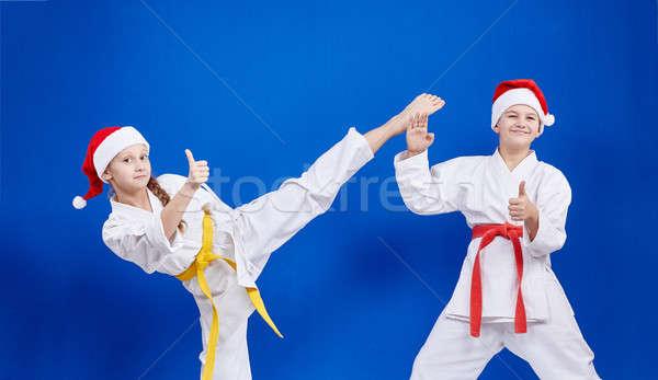 Enfants faire sauter doigt super fille santé Photo stock © Andreyfire