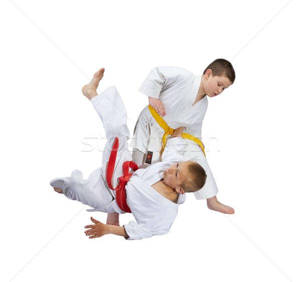 選手 黄色 ベルト 赤 スポーツ ストックフォト © Andreyfire