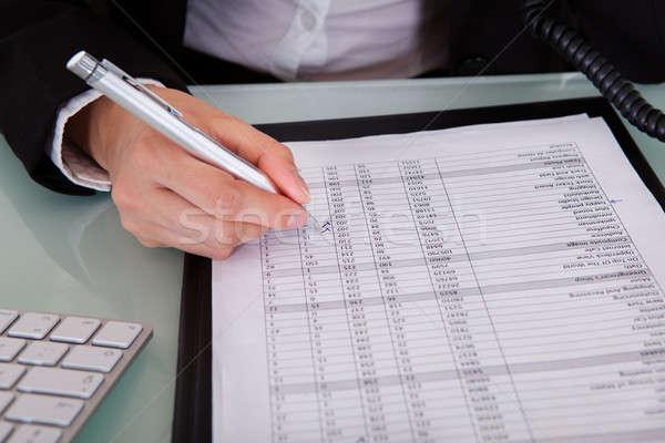 女性実業家 書類 ビジネス 作業 ペン ストックフォト © AndreyPopov