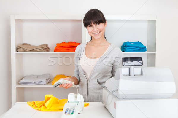Sales person in the shop Stock photo © AndreyPopov