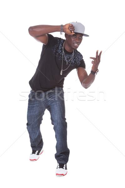 Stok fotoğraf: Portre · Afrika · genç · dans · beyaz · arka · plan