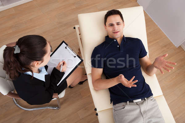 мужчины пациент психолог Дать отмечает Сток-фото © AndreyPopov