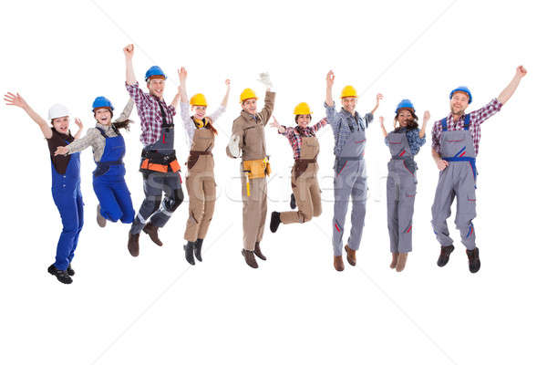 Large diverse group of workmen and women Stock photo © AndreyPopov