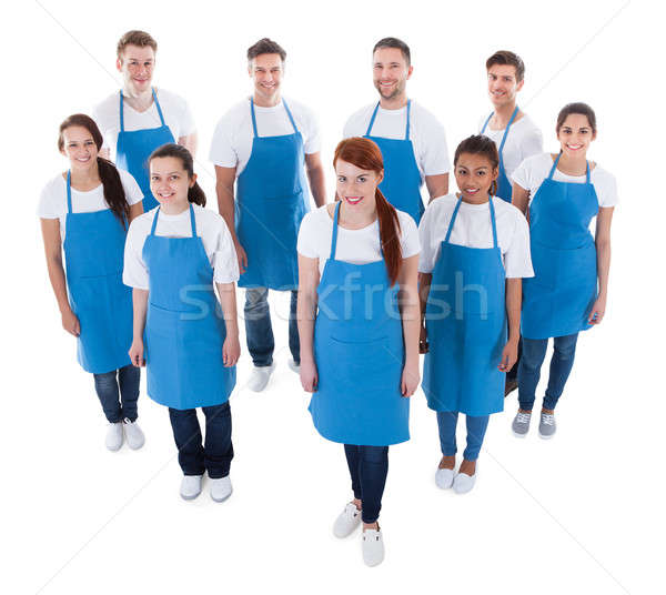Diverse group of professional cleaners Stock photo © AndreyPopov