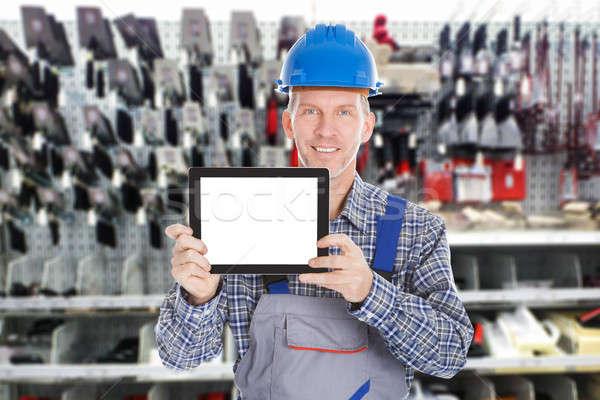 Masculina trabajador digital tableta retrato Foto stock © AndreyPopov