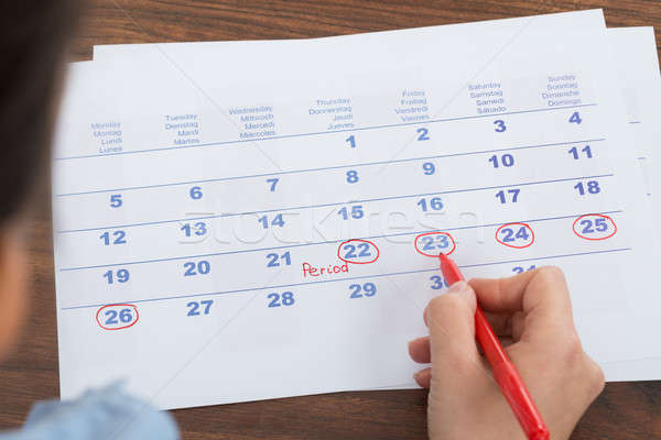 Person Marking On Calendar Stock photo © AndreyPopov