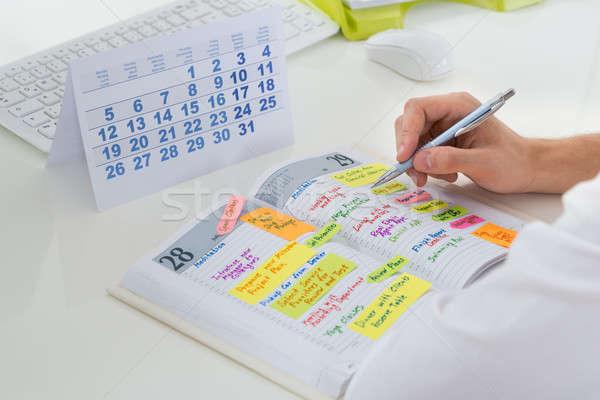 Сток-фото: бизнесмен · календаря · дневнике · Дать · графика